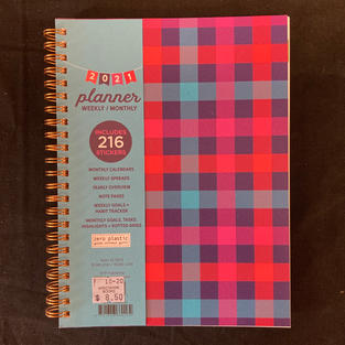 2021 Weekly/Monthly Planner - Plaid