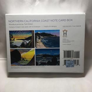 Northern Calfornia Coast Note Card Box - Tom Killion (back)