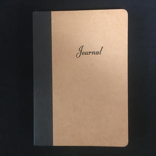 Tan & Blank Lined Medium Journal