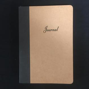 Tan & Blank Lined Medium Journal