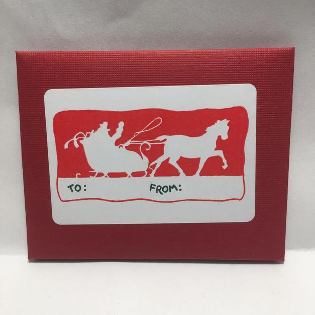 Santa Sleigh Silhouette Gift Tags - Saturn Press