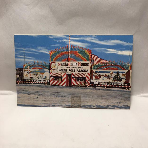 North Pole Vintage Christmas Postcard Pamphlet (front)