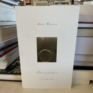 Plainwater: Essays and Poetry by Anne Carson