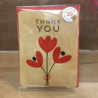 Red Flower Trio Thank You - Night Owl Paper Goods