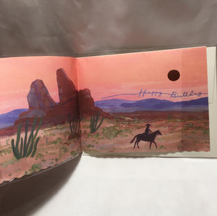 Desert Scene Birthday - Red Cap Cards (inside)