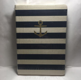 Striped Anchor - Lined Journal