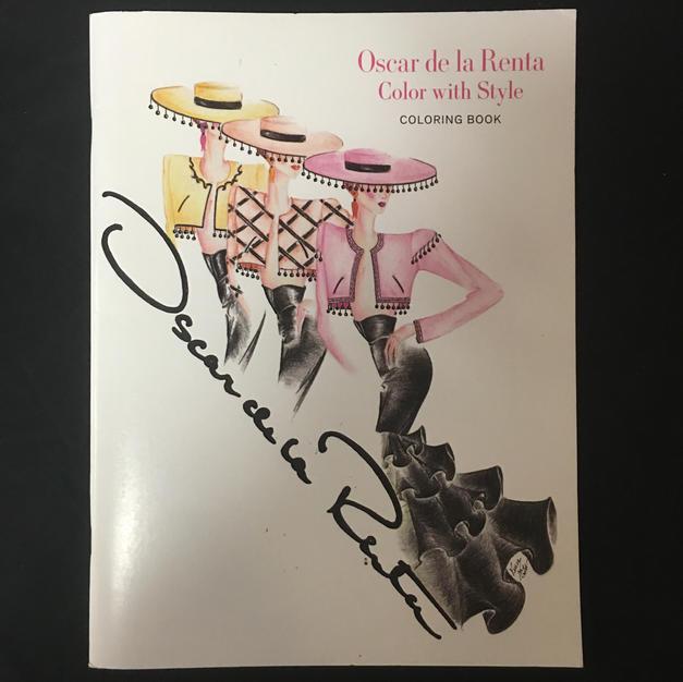 Oscar de la Renta Color With Style Coloring Book