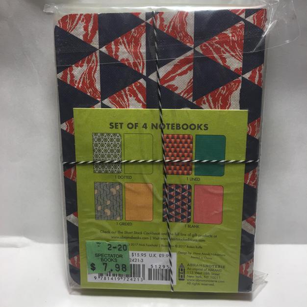 Patterned Notebook Trio - Short Stack (back)