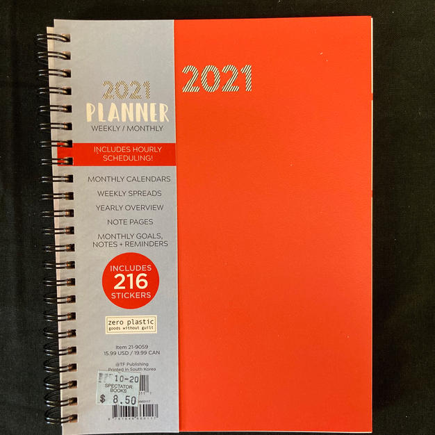 2021 Weekly/Monthly Planner - Orange