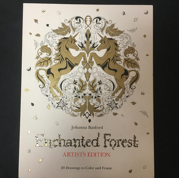 Enchanted Forest Artist's Edition Coloring Book