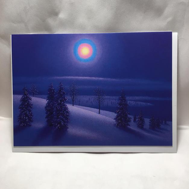 Blue Christmas Light - Pomegranate