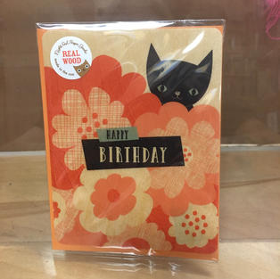 Shy Black Kitten Birthday - Night Owl Paper Goods