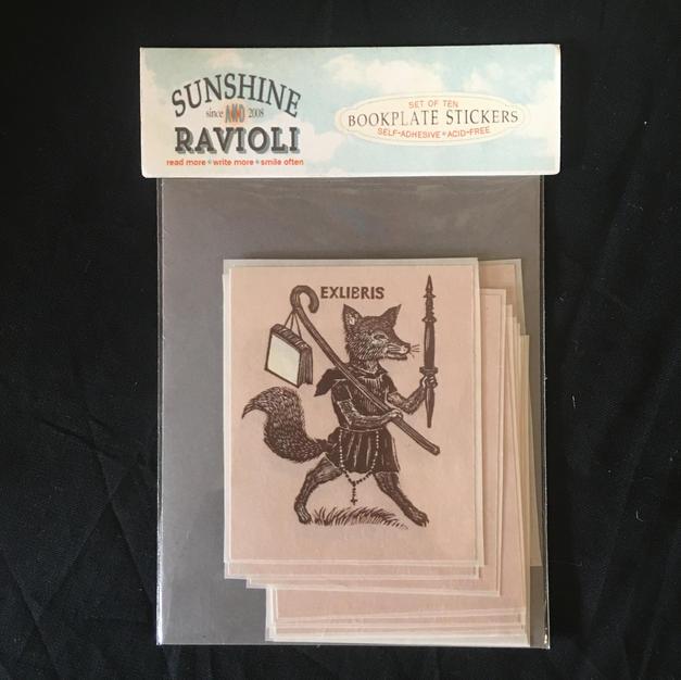 Bookplates - Fox - Sunshine & Ravioli