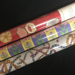 Red Cap Gift Wrap Roll - Compact / Floral Psych / Pastel Chains