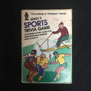 Sports Trivia Card Game