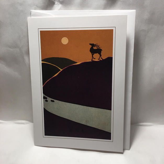 Deer on a Hill - Pomegranate
