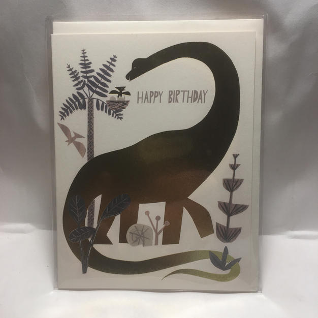 Gold Dinosaur Birthday - Red Cap Cards