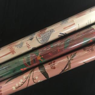 Red Cap Gift Wrap Roll - Leopard / Snake / Caterpillar