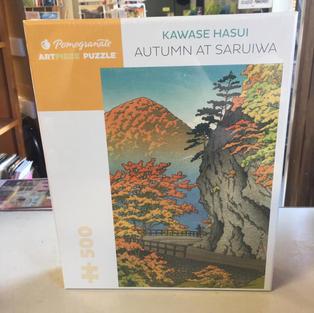Autumn at Saruiwa, Kawase Hasui