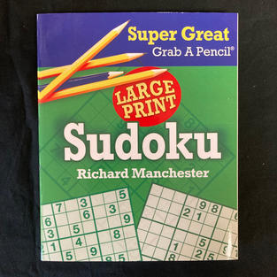Super Great Grab A Pencil Large Print Sudoku - Ed. Richard Manchester