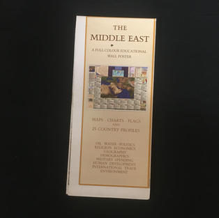 Map - Middle East Educational Poster