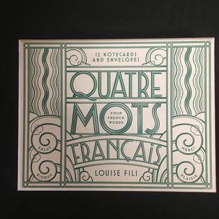 Quatre Mots Francais - Louise Fili (front)