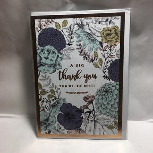 Framed Floral Big Thank You - Notes & Queries