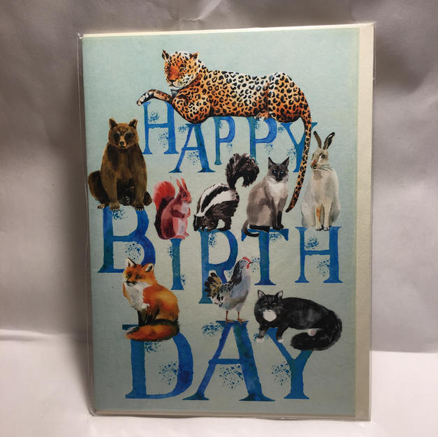 Animals on Blue Letters Birthday - Notes & Queries