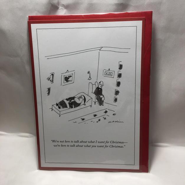 Santa Therapy New Yorker Cartoon - Nelson Line