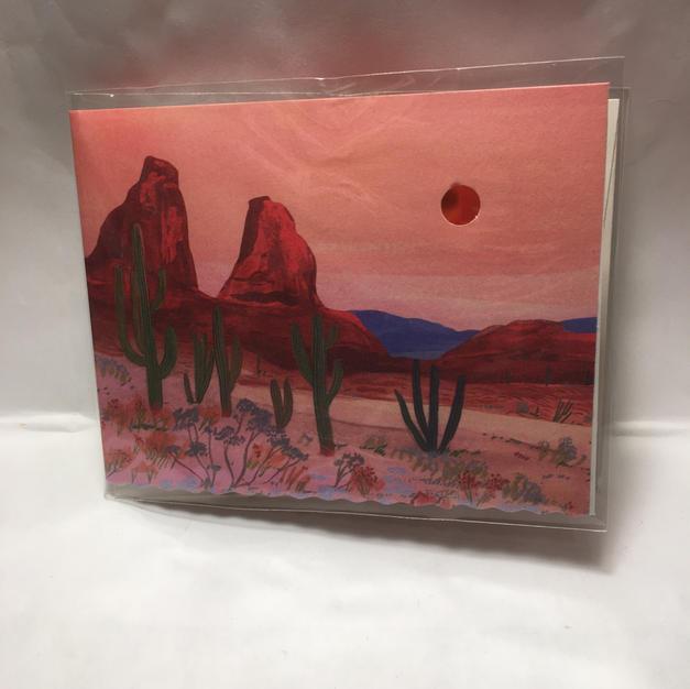 Desert Scene Birthday - Red Cap Cards (front)