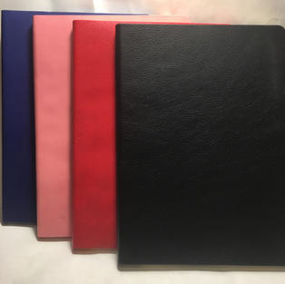 Blue / Pink / Red / Black - Lined Flexi Journals (front view)