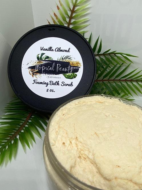 Vanilla Almond Foaming Sugar Scrub 8 oz