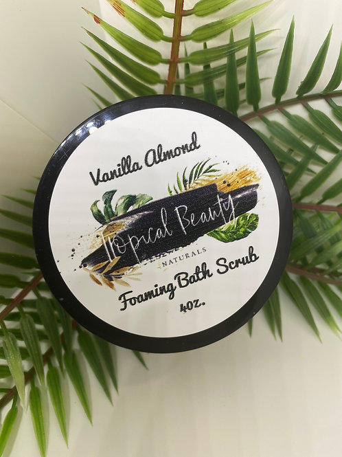 Vanilla Almond Foaming Sugar Scrub 4 oz.