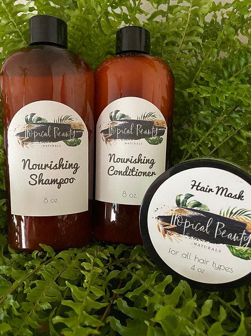 Nourishing Shampoo , Conditioner & Hair Mask Combo
