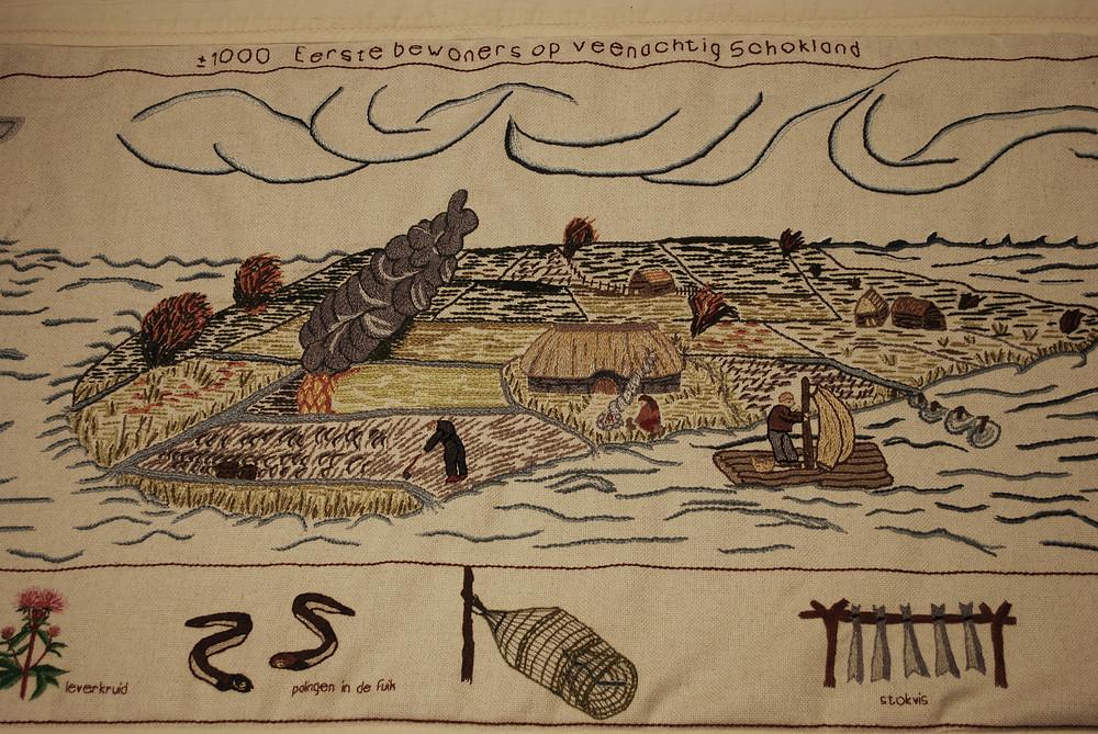 Eerste bewoners van Schokland