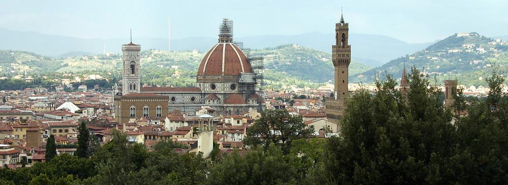 Aanzicht op Florence