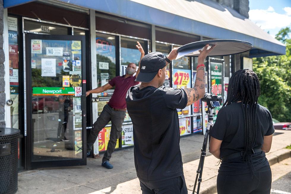 Video shoot behind the scenes