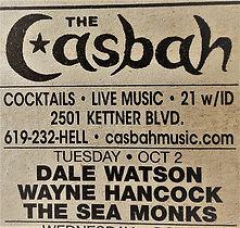 Casbah The Sea Monks Dale Watson Wayne H