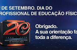 1º de Setembro - Dia do Profissional de Educação Física