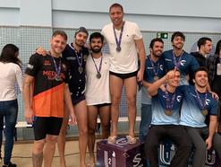Suprema conquista o segundo lugar na Natação Masculina dos Jogos Universitarius 2019