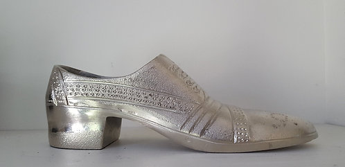 Decorative Vintage Inspired Silver Metal Shoe