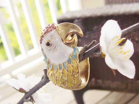 3D Parrot Ring - Sizes 6 and 7