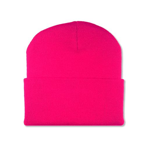 Plain Hot Pink Beanie