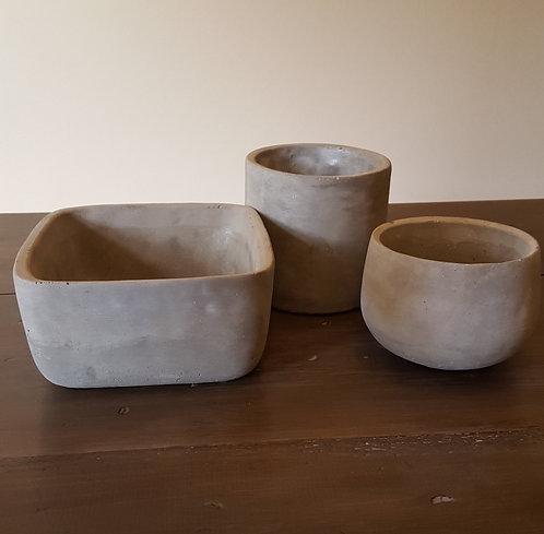 Decorative Concrete Bowls - 3 Sizes