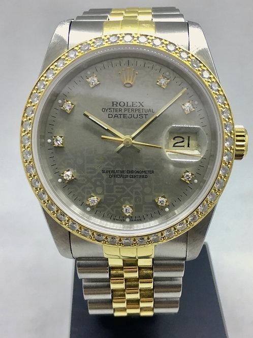 Datejust 36 mm Guld/stål m. diamanter