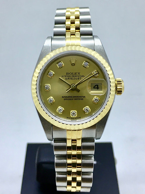 Datejust 26 mm Guld /Stål m. diamanter