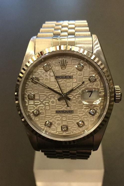 Rolex Datejust med Diamantskive