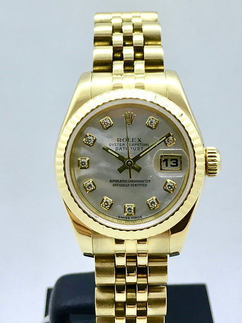 Datejust 26 mm 18kt guld m.diamanter