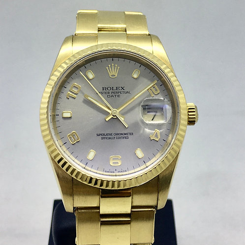 Oyster Perpetual Date 34 mm 18 kt. guld
