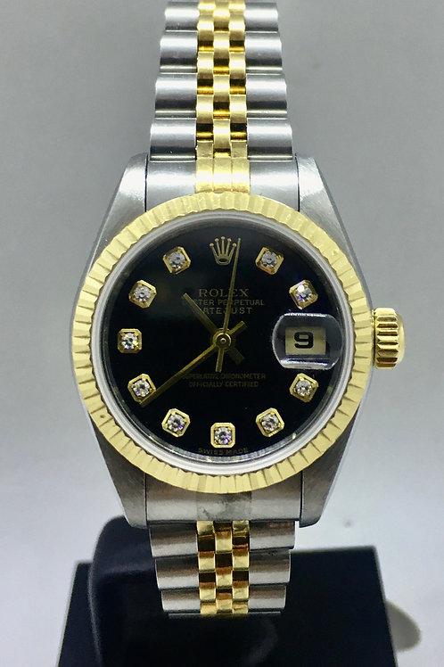 Datejust Guld/stål 26 mm m. diamanter